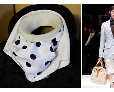 """L'ascot, ou nœud de foulard """"Ne suis-je pas riche et mystérieuse?"""""""