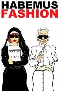 Anna Wintour et Karl Lagerfeld vu par Alexsandro Palombo en tant que pape et papesse de la mode.