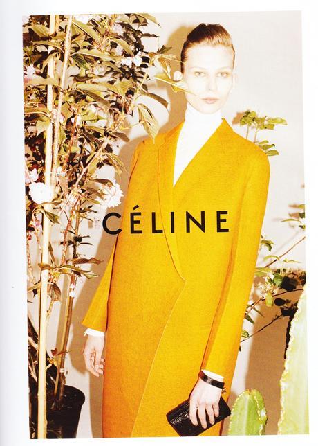 Publicité de la marque Céline dans le Vogue de novembre 2011