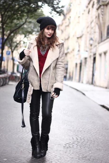 Blouson Femme Blouson Zara Femme Retourne Mouton Q850v1