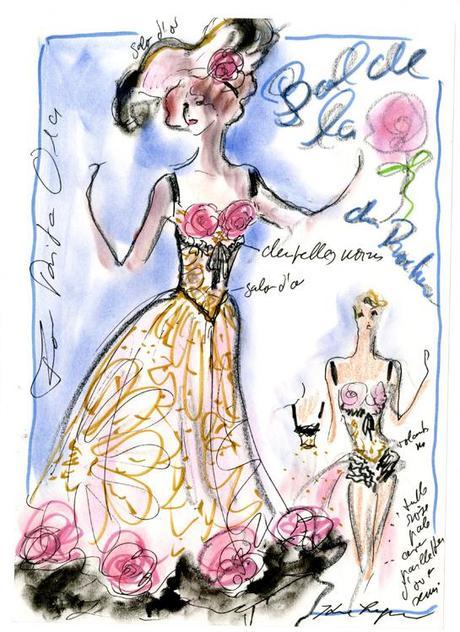 croquis-karl-lagerfeld-bal-rose-chanel-mode-art