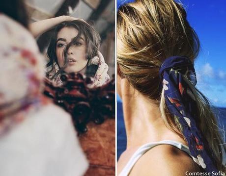 chales,foulard,accessoire,cheveux,queue,cheval,coiffure,impression,
