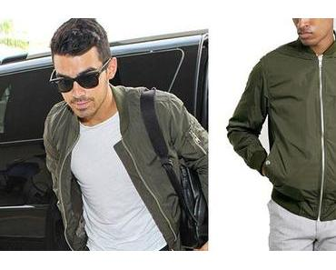 STYLE : bomber kaki pour Joe Jonas
