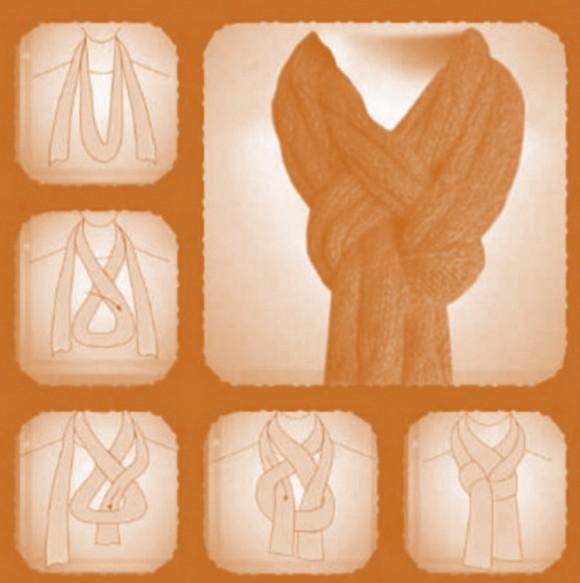 Comment nouer un grand foulard - Nouer une echarpe ...