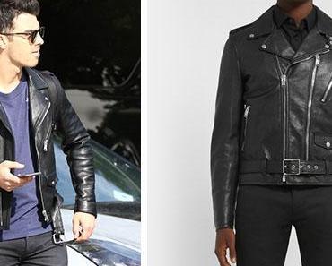 STYLE : Joe Jonas wearing a biker jacket