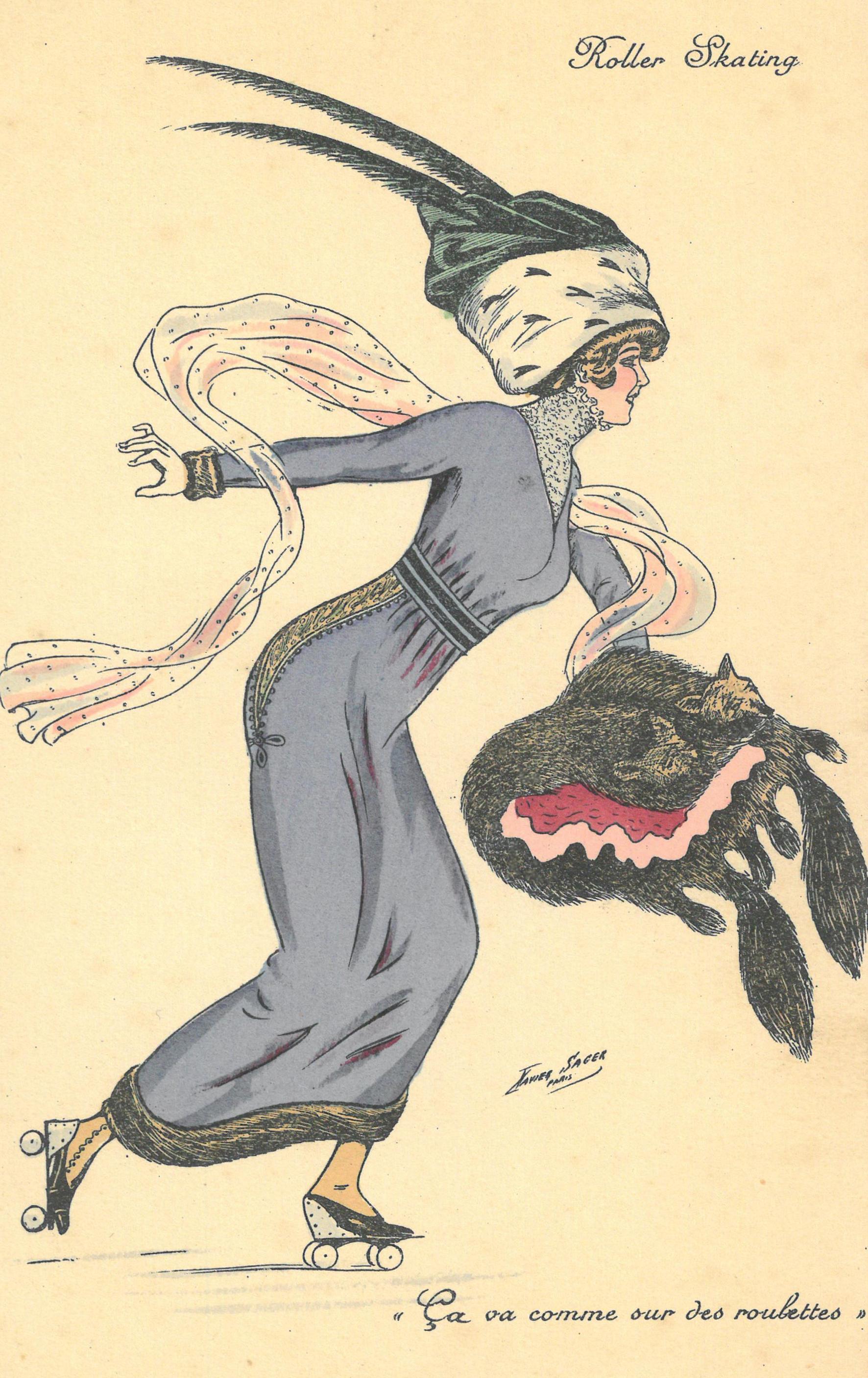 dessin-mode-ca-va-comme-sur-des-roulettes-xavier-sager-fashioning winter-somerset-house