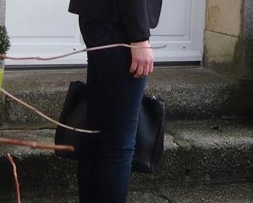 Le look black & jean d'Eléonore