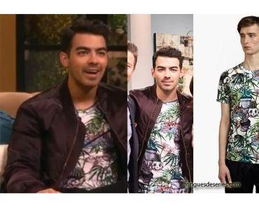 STYLE : Joe Jonas wearing Paul Smith t-shirt