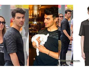 STYLE : Joe Jonas with a quilted tee