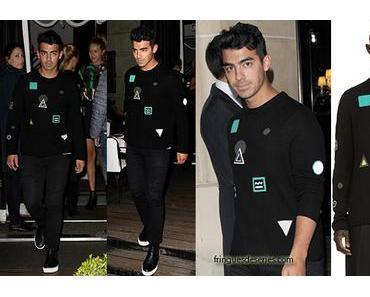 STYLE : Joe Jonas wearing a Kenzo sweater in Paris