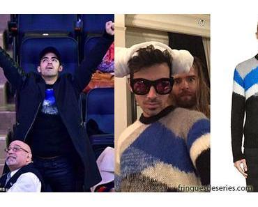 STYLE : Joe Jonas wearing a Diesel knit sweater