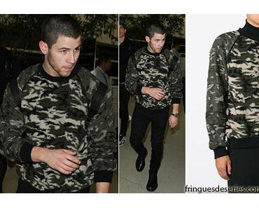 STYLE : Nick Jonas in camo sweater