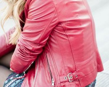 Le perfecto en cuir rouge