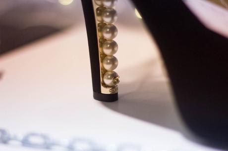 escarpins chanel perles