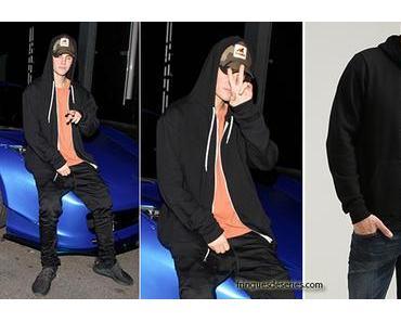 STYLE : Justin Bieber en sweat à capuche American Apparel