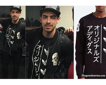 STYLE : Joe Jonas with an Adidas Originals Tokyo sweatshirt