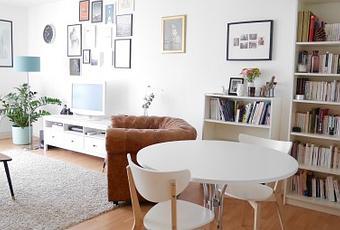 meubler et d corer un salon blanc. Black Bedroom Furniture Sets. Home Design Ideas