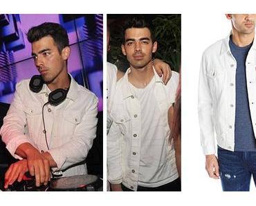 STYLE : Joe Jonas in white denim jacket