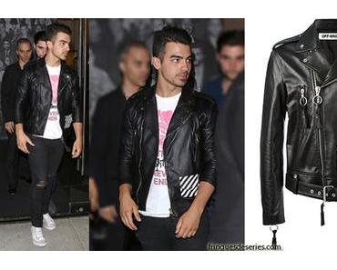 STYLE : Joe Jonas with an Off-White biker jacket