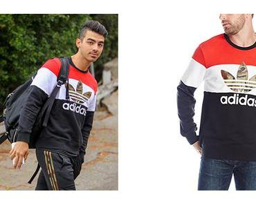 STYLE : Joe Jonas wearing an ADIDAS ORIGINALS sweatshirt