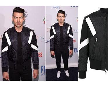 STYLE : Joe Jonas with a Neil Barrett bomber jacket