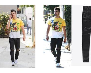 STYLE : Joe Jonas wearing En Noir Destroyed Jeans