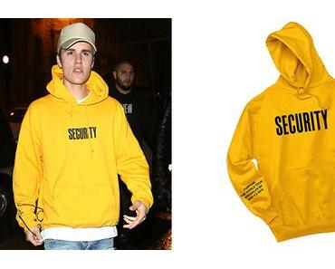 STYLE : Justin Bieber wears 'Security' hoodie