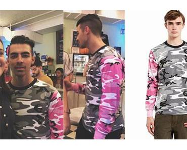 STYLE : Joe Jonas with a camo tee