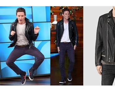 STYLE : Eddie Redmayne plays heads up with an ALL SAINTS jacket