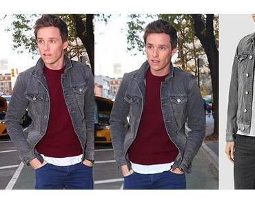 STYLE : Eddie Redmayne stepping out in NY with an All Saints denim jacket