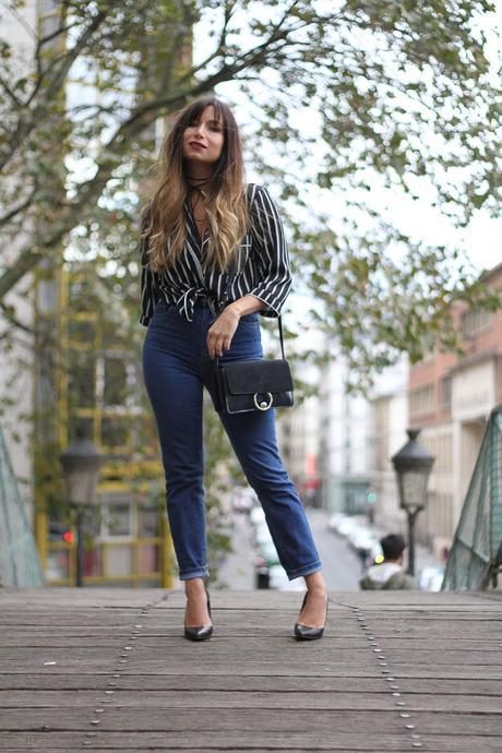 high-waist-denim-and-stripe-shirt