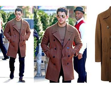 STYLE : Nick Jonas in Neil Barrett coat