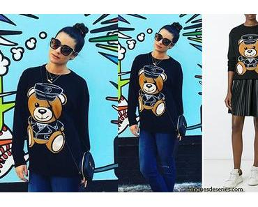 STYLE : Lea Michele and her new teddy bear