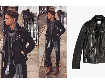 STYLE : Joe Sugg in a Sandro biker jacket