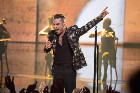 Robbie Williams performs during the 18th Nrj Music Awards ceremony in Cannes,in the south of France, FRANCE - 12/11/2016. Photos must not be used out of context.