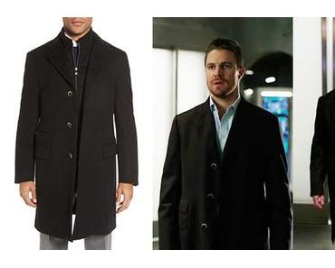 ARROW : Oliver Queen with a Corneliani coat in s5ep09