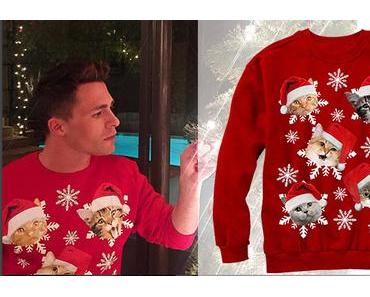 CHRISTMAS 2016 : Colton Haynes and the cat snowflakes