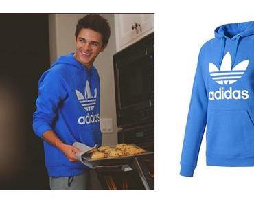 STYLE : Brent Rivera made cookies in Adidas Originals sweatshirt