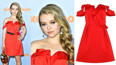 Kids' Choice Awards 2017 : Jade Pettyjohn, awesome in red
