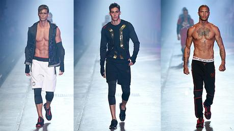 MILANO : Giovanni Bonamy and friends walking for Plein Sport
