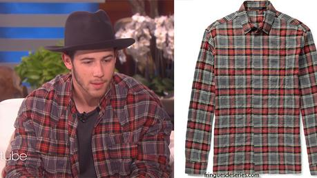 STYLE : Nick Jonas performs find you in a H.A. checked shirt