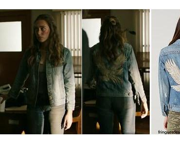 FEAR THE WALKING DEAD : Alicia wearing a tomboy Trucker Denim Jacket in s3ep16