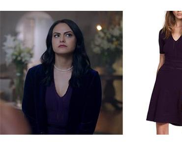 RIVERDALE : Veronica in a purple dress in s2ep02