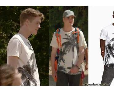 JOSÉPHINE, ANGE GARDIEN : Ben (Esteban Vial) avec un t-shirt palmiers