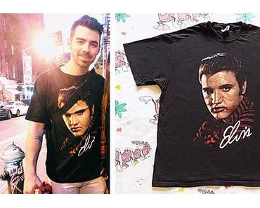 STYLE : Joe Jonas with a vintage Elvis Presley tee