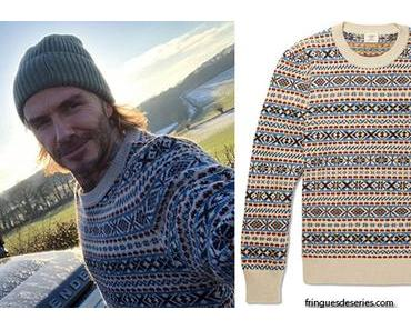 STYLE : Fair isle sweater for David Beckham