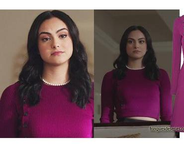 RIVERDALE : Veronica in a plum sweater dress (but more sweater than dress) in ep 14