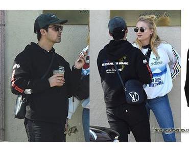 STYLE : Joe Jonas in LA wearing an Alexander Wang hoodie