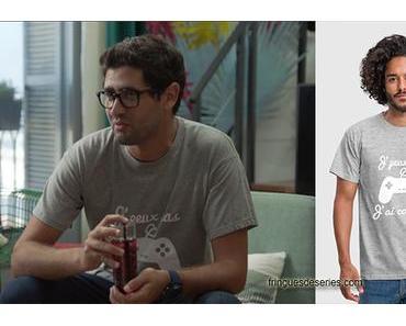 DEMAIN NOUS APPARTIENT : le t-shirt «J'peux pas  j'ai console» de Georges dans l'épisode 289