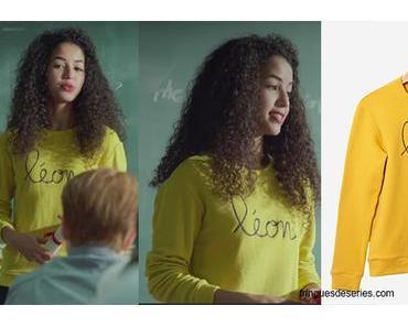 PLUS BELLE LA VIE : le sweat jaune «léon» de Mila dans l'épisode 3649